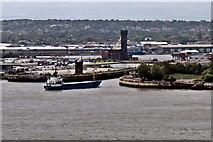 SJ3290 : Cargo vessel Doris T. enters Birkenhead Docks by El Pollock