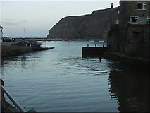 NZ7818 : Looking out from Staithes beck by Ian Cardinal