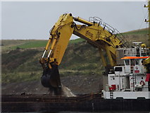 NJ9505 : Dredging at Aberdeen Harbour Mouth by Colin Smith