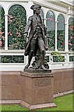 SJ3787 : Captain Cook Statue, Sefton Park, Liverpool by El Pollock