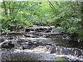 NY7059 : Waterfall, Park Burn by Les Hull