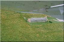 HY4800 : Italian Nissen hut chapel, Lamb Holm 2007: aerial by Chris