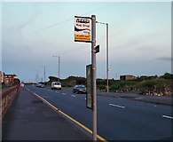 SD3228 : Seasonal Bus Stop outside Grand Hotel by Gerald England
