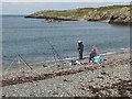 SH3393 : Anglers at Cemlyn Bay by Oliver Dixon