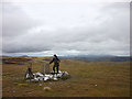 NN6677 : On top of A'Bhuideanach Bheag (936m) by Karl and Ali