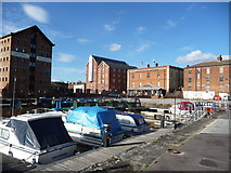 SO8218 : Part of the Victoria Dock at Gloucester Docks by Jeremy Bolwell