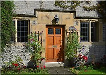 SK2272 : Front door of Dower House, Hassop by Neil Theasby