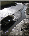 TG0044 : Late sun on a tidal creek by Pauline E