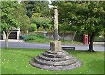 SK1971 : The fifteenth century village cross, Great Longstone by Neil Theasby