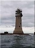 SX4650 : Plymouth breakwater lighthouse by Steve  Fareham