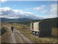 NN5896 : Argocat by the Glen Markie track by Karl and Ali