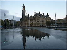 SE1632 : Bradford: City Hall from across Centenary Square by Chris Downer