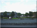 NN9457 : Car park of the Blair Atholl Distillery, Pitlochry by Karl and Ali