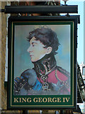 TQ1289 : The King George IV inn sign by Robin Webster