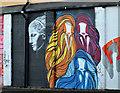 J3474 : Mural, Corporation Street, Belfast (4) by Albert Bridge