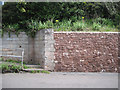 SX9473 : Twentieth-century retaining walls, Lower Brimley by Robin Stott