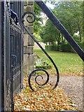 TQ1773 : Wrought-ironwork at Ham House (3) by Stefan Czapski