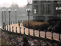 J3473 : Riverside path in Belfast by Robert Ashby