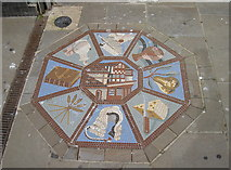 SO8318 : Westgate Street mosaic - the Old Judge's House by Neil Owen