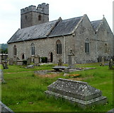 SN7634 : Llandovery: St Dingat's Church viewed from the SE by Jaggery