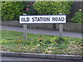 TM3878 : Old Station Road sign by Adrian Cable