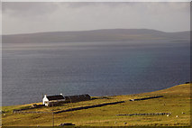 HU4583 : House at Sound, West Yell by Mike Pennington