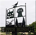 TQ6966 : Upper Bush Village Sign by David Anstiss