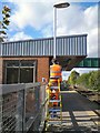 SJ9291 : Bredbury Station painter by Gerald England