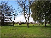 SD8203 : The papal monument stone in Heaton Park by Raymond Knapman