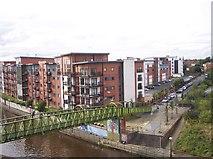 SJ8297 : Footbridge over the River Irwell at Ordsall by Raymond Knapman