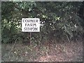 TM3667 : Corner Farm sign by Adrian Cable