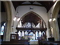 TQ3952 : Interior of St Mary's church, Oxted by Stephen Craven