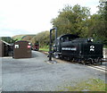 SO0612 : Locomotive and water column, Pontsticill railway station by Jaggery
