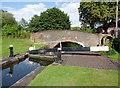 SP1592 : Minworth Bottom Lock and Caters Bridge, Birmingham by Roger  Kidd