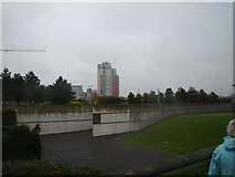 TQ4179 : View of a block of flats near Thames Barrier Park by Robert Lamb