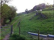 SH9434 : Start of Public Footpath at Rhos-y-gwaliau by Peter Morgan