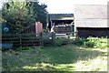 SP7927 : Path goes by Home Farm by Philip Jeffrey