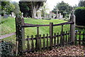 SP8026 : Swanbourne Cemetery by Philip Jeffrey