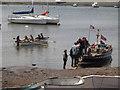 SX9372 : Boarding the Teign ferry, Teignmouth by Robin Stott