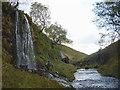 SD8673 : Tributary waterfall, Pen-y-Ghent Gill by Karl and Ali