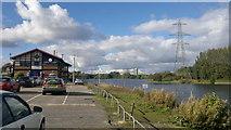 SJ8092 : Trafford Watersports Centre & Sale Water Park by Steven Haslington