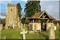 SP9026 : Cemetery at St Mary's Old Linslade by Philip Jeffrey