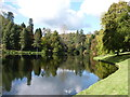 ST7734 : Stourhead: northern half of the Garden Lake by Chris Downer