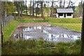 NJ0327 : Curling pond, Grantown-on-Spey by Jim Barton