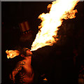 TQ8209 : Fire Breather, Hastings Bonfire parade by Oast House Archive