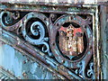 NS5964 : Coat of Arms on Albert Bridge by Thomas Nugent