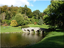 ST7733 : Stourhead: the Stone Bridge from the southwest by Chris Downer