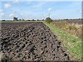 TF1268 : Newly ploughed field near Bardney by Oliver Dixon