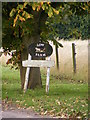 TM4182 : Low Farm sign by Adrian Cable