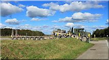 "SU0146 : 2012 : Large army vehicle at ""J"" crossing by Maurice Pullin"